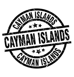 Cayman islands black round grunge stamp vector