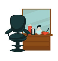 Chair in beauty salon vector