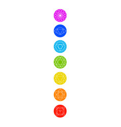 Chakra icons with respective colors vector