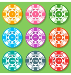 Colored Chips vector image