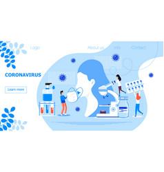Coronavirus concept for homepage tiny vector