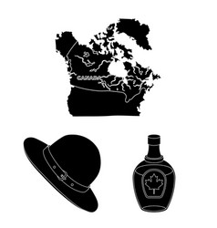 country canada black icons in set collection for vector image