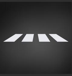 crosswalk path pedestrian crossing perspective vector image