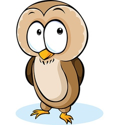 Cute owl cartoon - isolated on white backgro vector