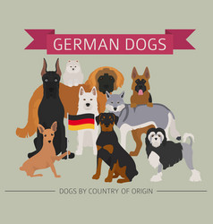 Dogs by country of origin german dog breeds vector