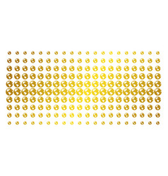 earth gold halftone effect vector image