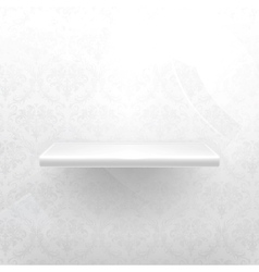 Empty shelf white luxury vector image
