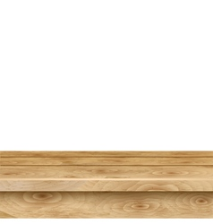 Empty table of light brown wooden planks vector