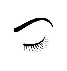 Eyelash eyebrow logo vector
