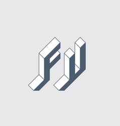 f and u - monogram or logotype fu - 2-letter code vector image