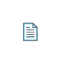 file icon design essential icon vector image