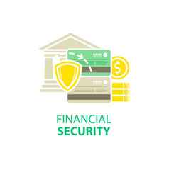 financial security icon vector image