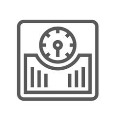 Floor scales line icon vector