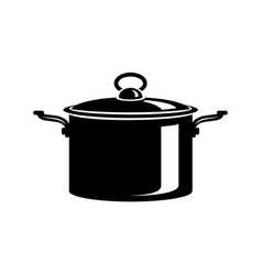 frying hot saucepan cook pan icon simple style vector image