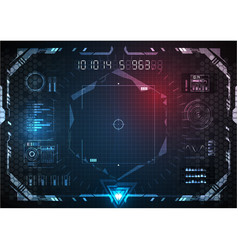 Futuristic game several option in interface vector