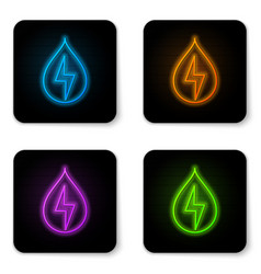 glowing neon water energy icon isolated on white vector image