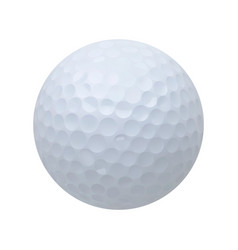 golf ball realistic on white vector image