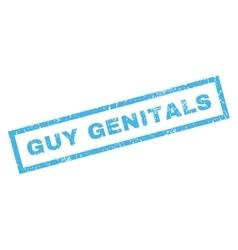 Guy Genitals Rubber Stamp vector