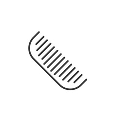 hair brush icon in flat style comb accessory on vector image