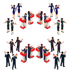 Isometric people businessman vector