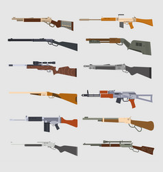 machine guns set vector image