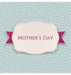Mothers Day realistic paper Banner Template vector