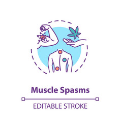 Muscle spasms concept icon vector