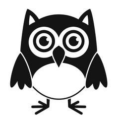 Nature owl icon simple style vector