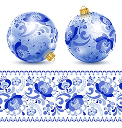 Painted christmas ball vector