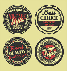 pastel color vintage labels collection 4 vector image