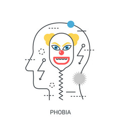 phobia concept vector image