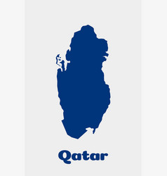 qatar country map concept for political economic vector image