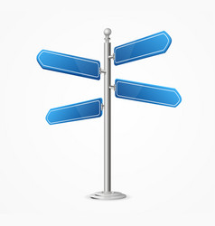 Realistic 3d detailed direction road signs blank vector