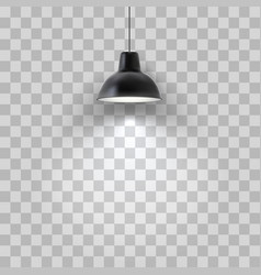 Realistic black ceiling lamp isolated vector