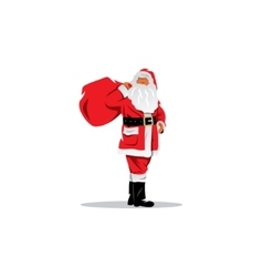 Santa Claus with sack of gifts vector image