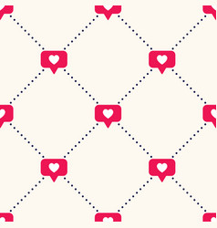seamless geometric pattern with bright red vector image