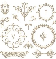 set line design elements vector image