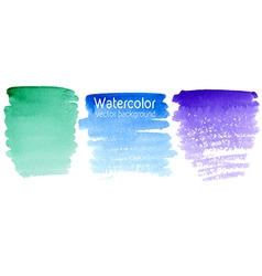 set of abstract watercolor backgrounds vector image