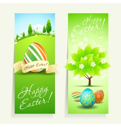 Set of two easter cards vector