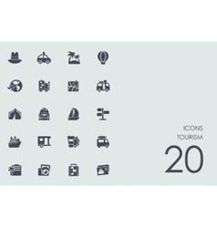 Set tourism icons vector