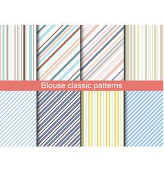 shirt stripes seamless pattern vector image