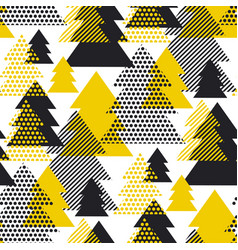 simple cool geometric christmas tree pattern vector image