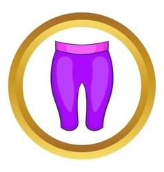 Sport shorts icon vector