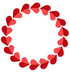 valentine frame hearts round photo frame vector image