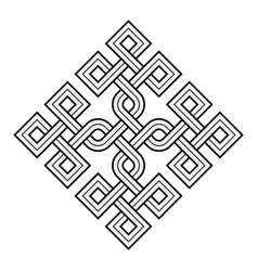 viking decorative knot - rings square edges vector image