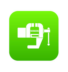 vise tool icon digital green vector image