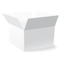 white box with shadow on white background vector image