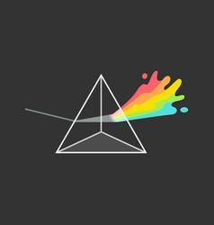 White light dispersion triangle prism colorful vector