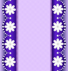 background with flowers of pearl vector image vector image