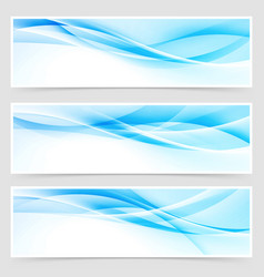 bright blue abstract swoosh modern line header vector image vector image